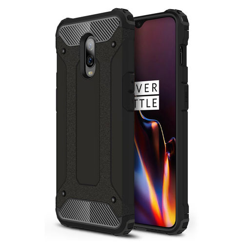 Military Defender Heavy Duty Shockproof Case for OnePlus 6T - Black